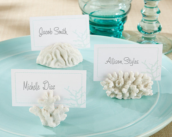 """Seven Seas"" Coral Place Card/Photo Holders-Placecard Holders-Kate Aspen-Sweet Heart Details"