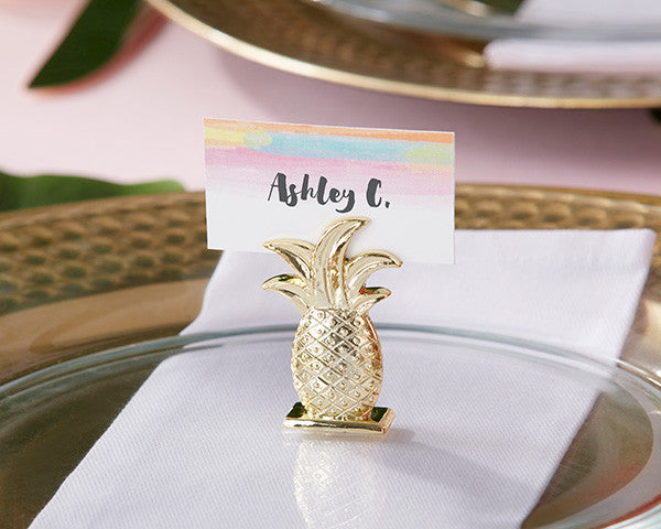 Gold Pineapple Place Card Holders-Placecard Holders-Kate Aspen-Sweet Heart Details