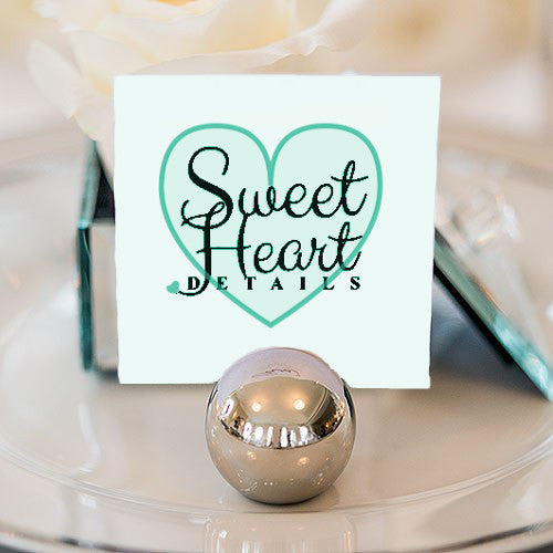 Classic Round Place Card Holder (Gold or Silver) (32)-Placecard Holders-Wedding Star-Sweet Heart Details