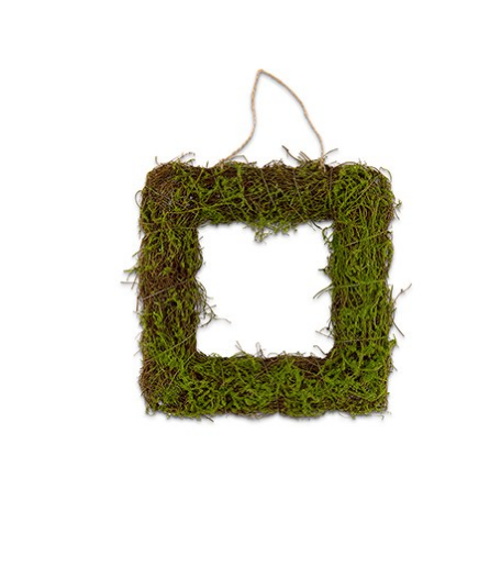 Faux Moss And Wicker Square Frames (12)-Wedding Decorations-Wedding Star-Sweet Heart Details