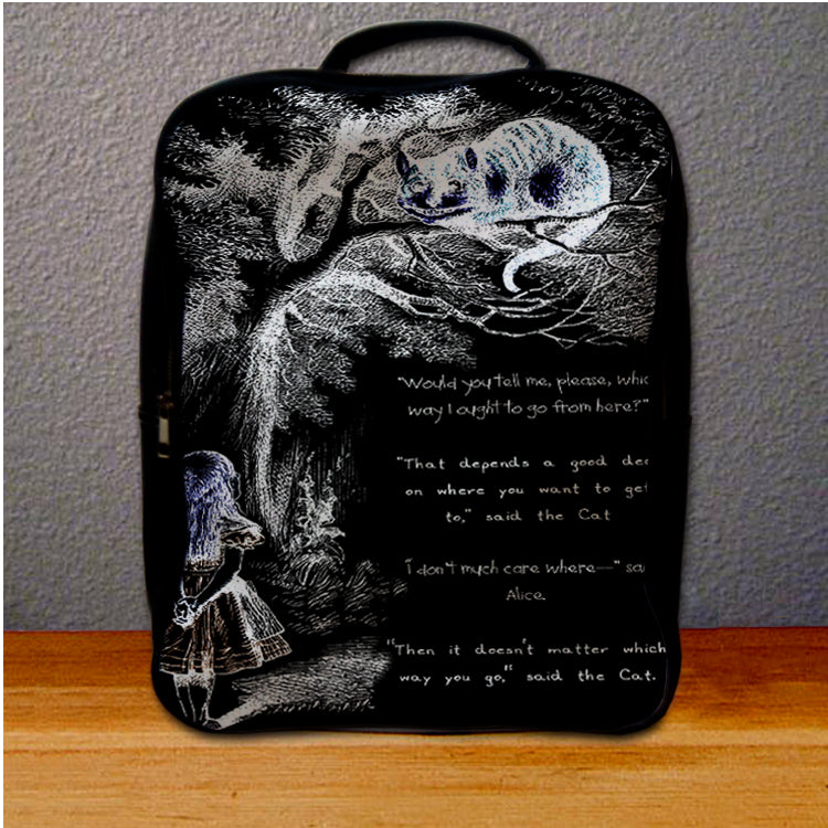 Alice and Cat Cheshire Backpack for Student