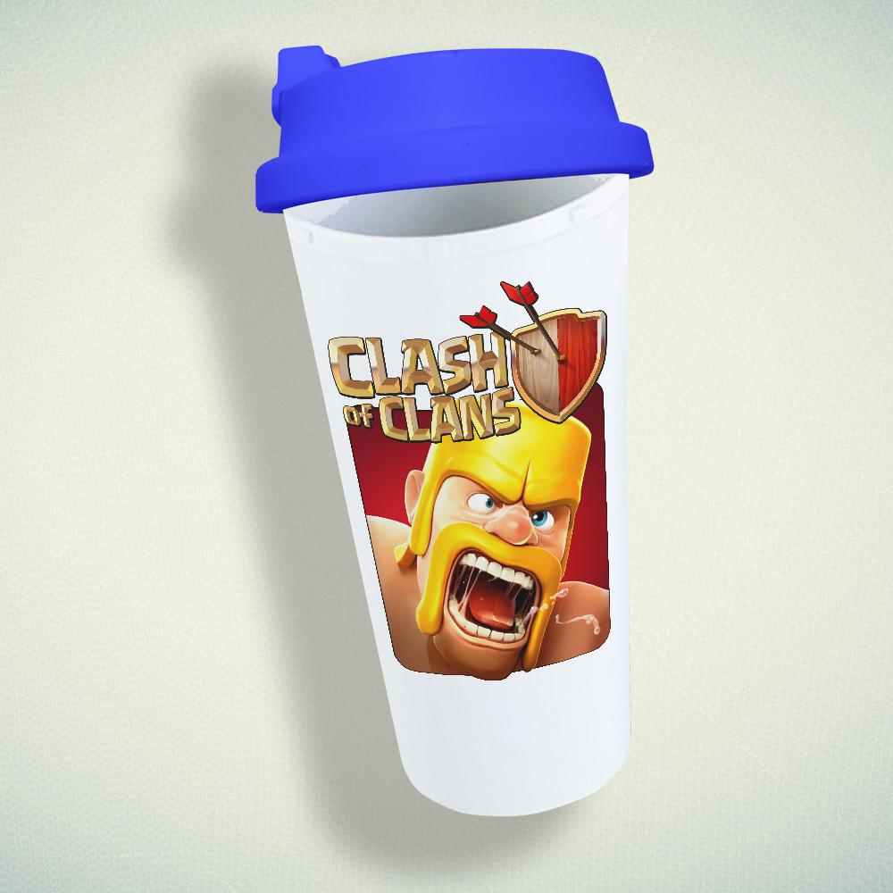 Clash Of Clans, Coc Barbarian Double Wall Plastic Mug
