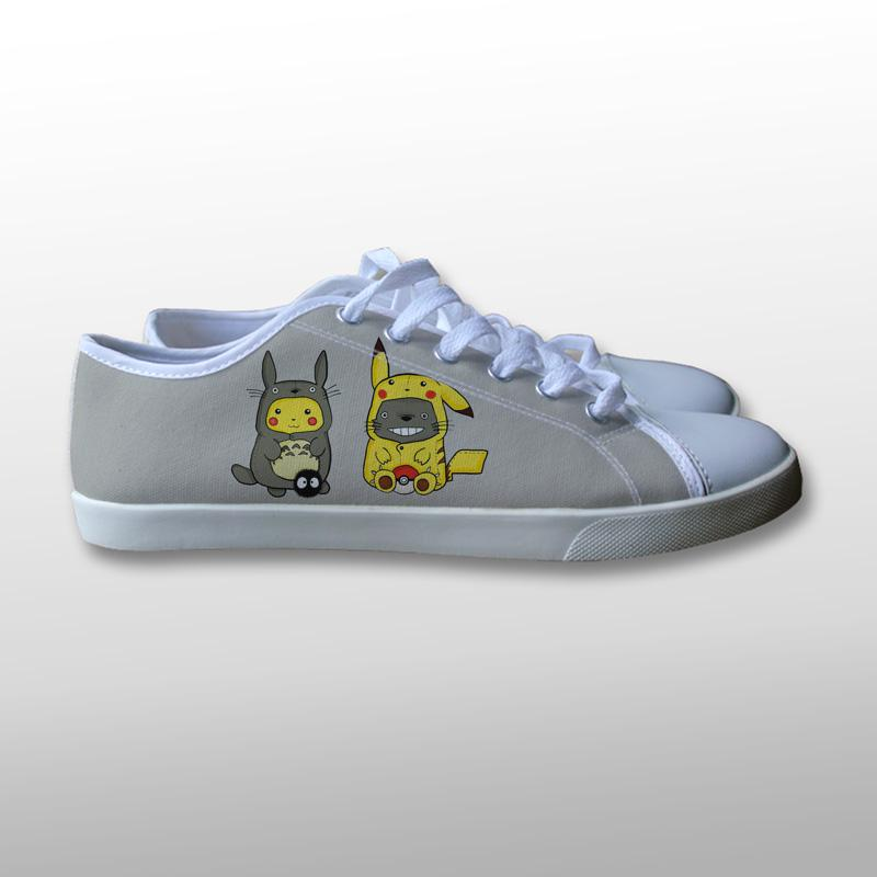 Pikachu Totoro Canvas Shoes