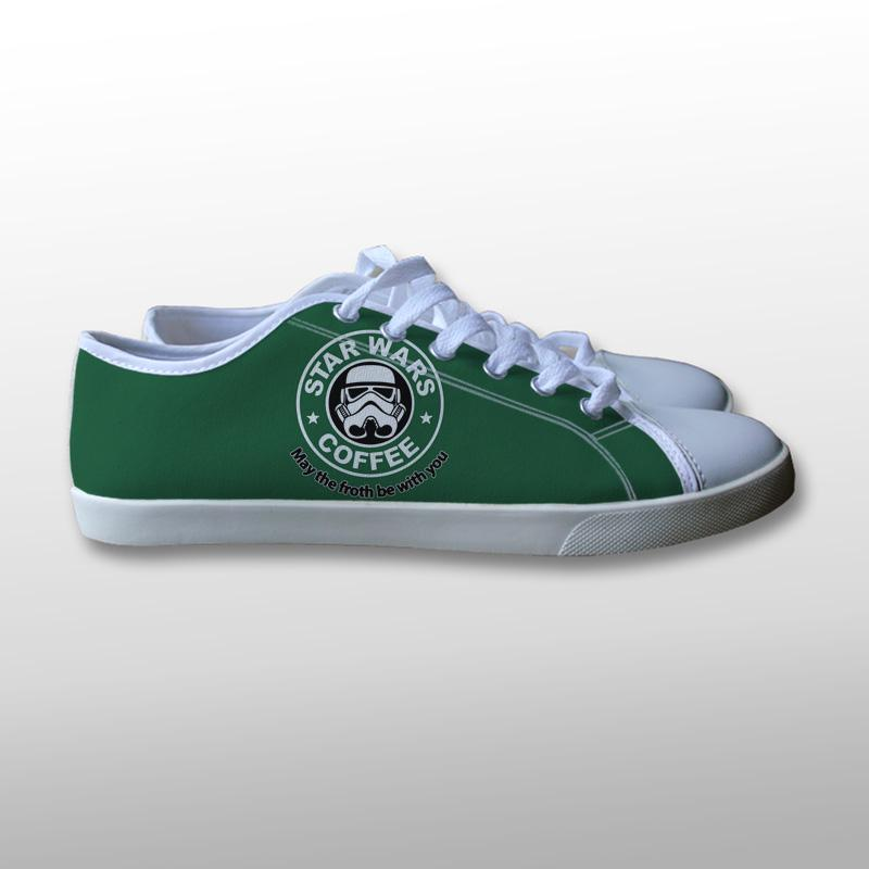 Star Wars Coffee Logo Canvas Shoes
