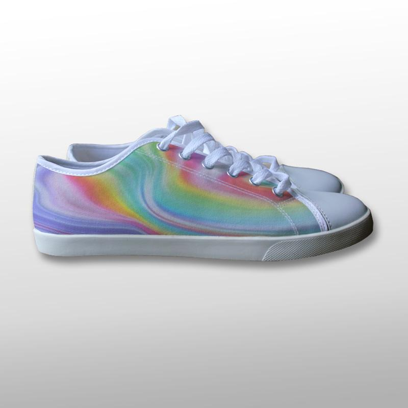 Trippy Tie Dye Canvas Shoes