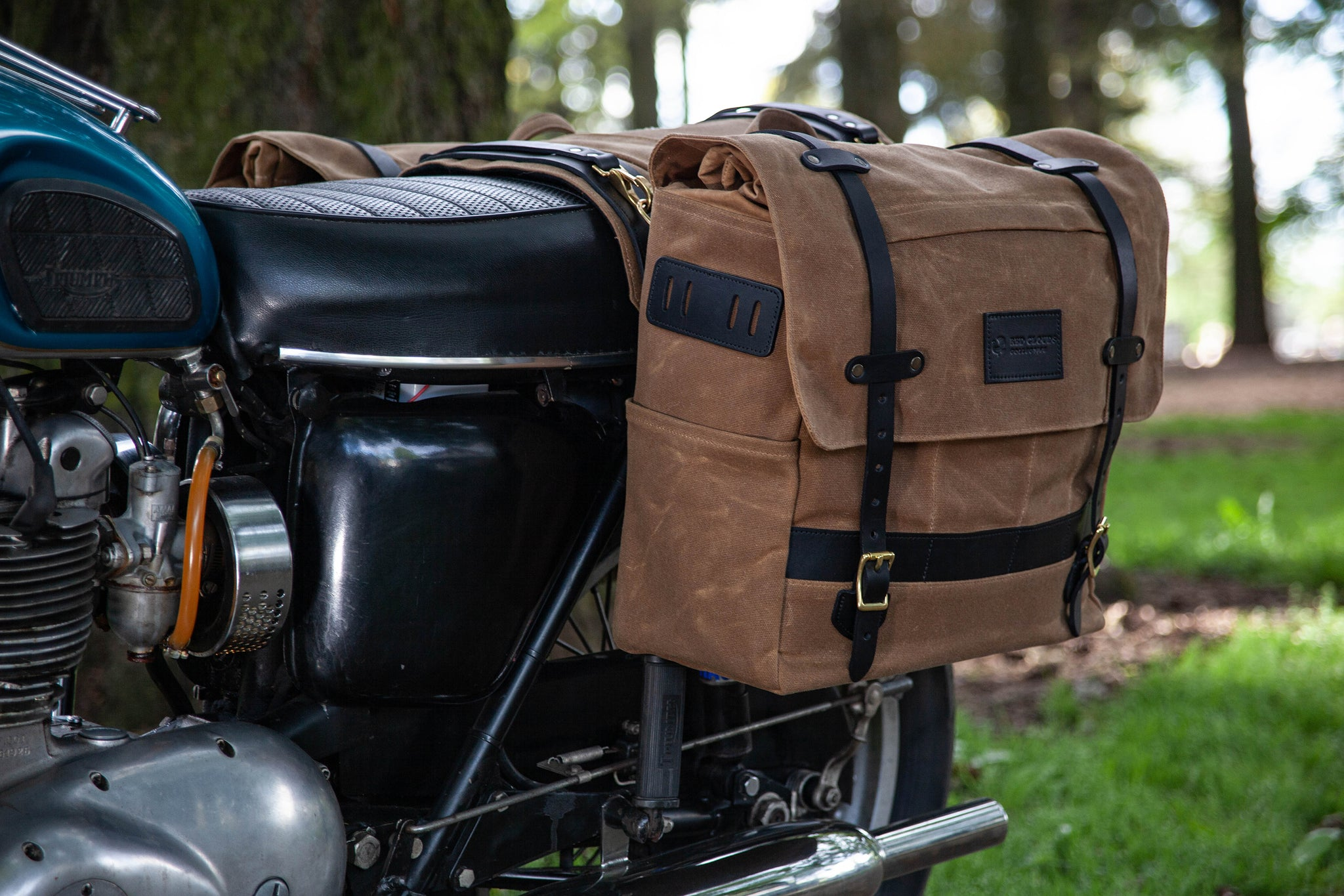 Long Hauler Saddle Bags - Black / Black (Set of 2)