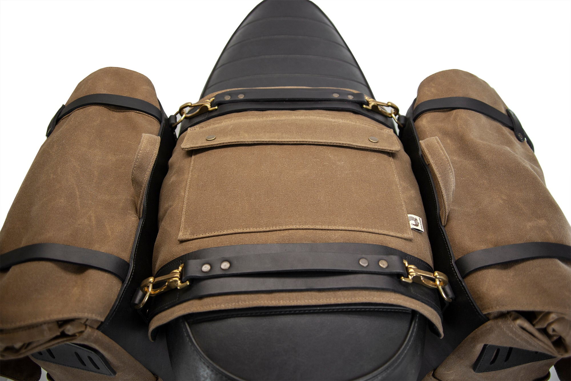 Long Hauler Saddle Bags - Black / Brown (Set of 2)