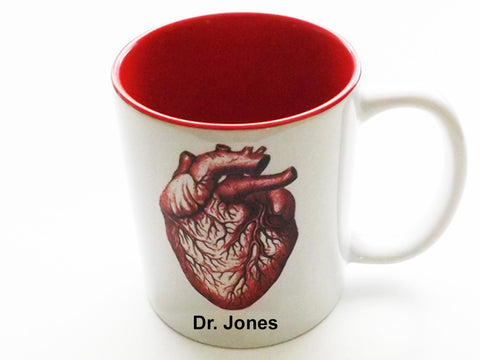 Personalized Anatomical Heart Coffee Mug customized medical student graduation gift nurse practitioner doctor physician assistant rn md pa np-Art Altered