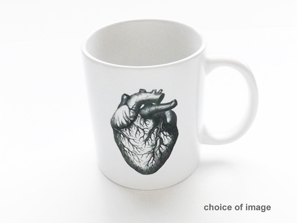 Anatomy Ceramic Coffee MUG Choice of Image anatomical heart medical student teacher doctor gift-Art Altered