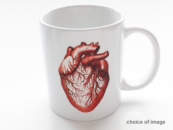 color Anatomy Ceramic Coffee MUG Choice of Image medical school graduation gift-Art Altered