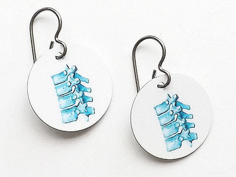 Spine Earrings chiropractor physical therapist gift anatomy vertebrae dc pt-Art Altered