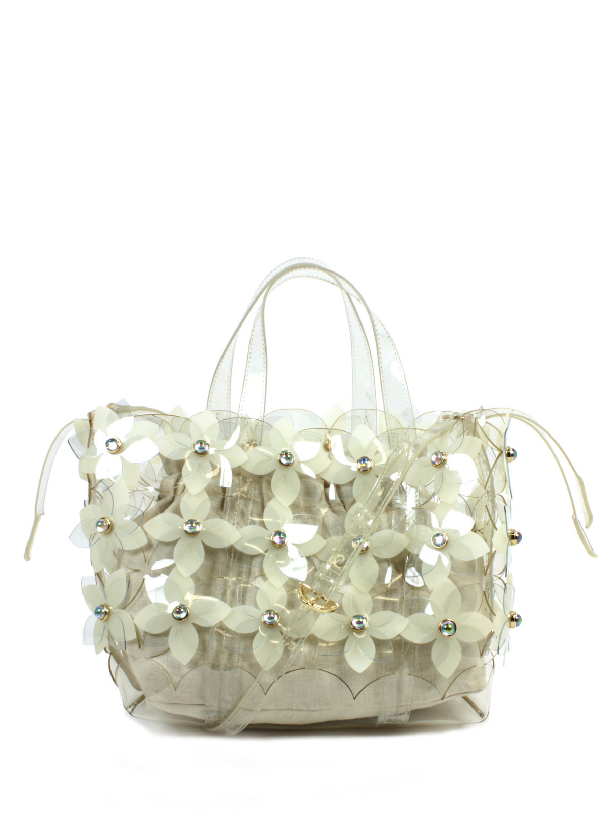 Floral Bouquet Shopper- Clear