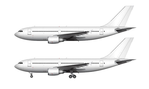 All White Airbus A310-300 with GE engines template