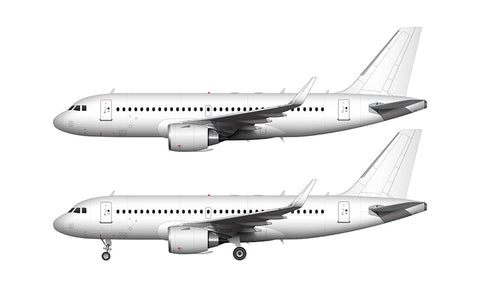 All White Airbus A319 NEO with CFM LEAP engines template