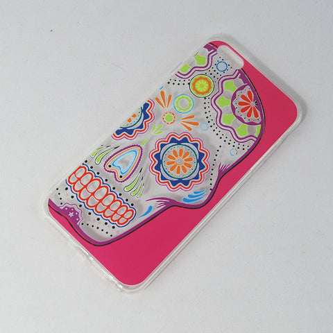 "Mobile Cover Pink ""Calaverita de azucar"" Sugar Skull Face Design,  Its design is inspired in the traditional Calaverita de Azucar or sugar skull that is placed in a death altar in the Dia de los Muertos or Day of the Death is celebrated in Mexico. If you like The Coco Pixar Movie you'll like this."