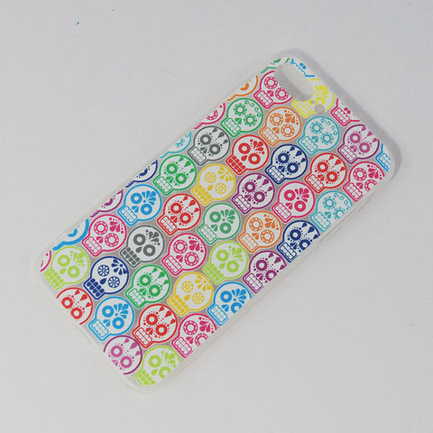 "Mobile Cover Colorful ""Calaverita de azucar"" Sugar Skull,  Its design is inspired in the traditional Calaverita de Azucar or sugar skull that is placed in a death altar in the Dia de los Muertos or Day of the Death is celebrated in Mexico. If you like The Coco Pixar Movie you'll like this."