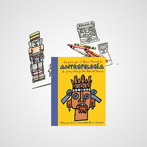 Coloring Book. Take a tour around the Museum of Anthropology in Mexico City