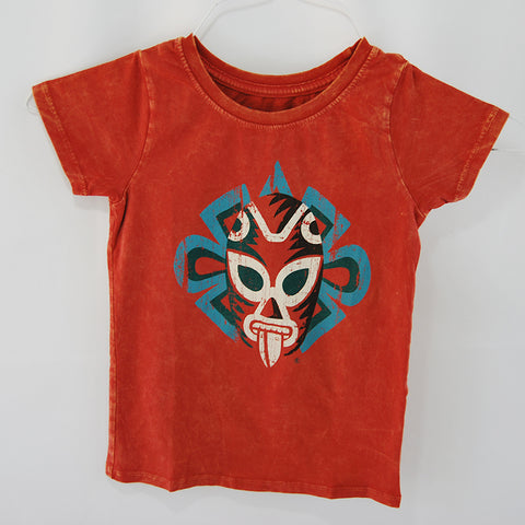 T-Shirt Jaguar Luchador Red U Neck for Kids This fun traditional Mexican wrestler (Luchador)T-Shirt print is made of 100% cotton and it comes in washed red color.