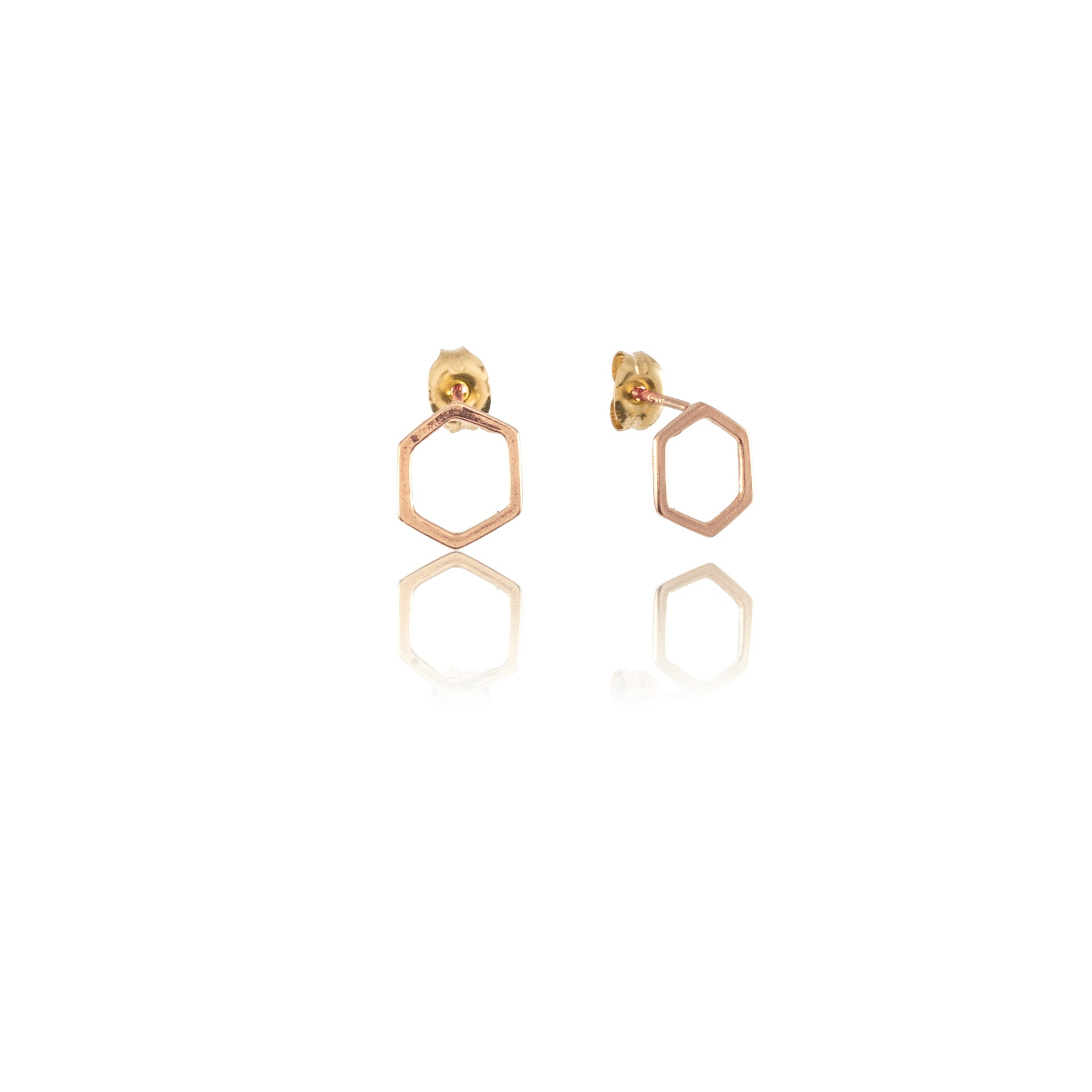 Mini Hex Earrings