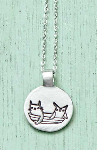Silver Owl and the Pussycat Necklace – shop.boygirlparty.com