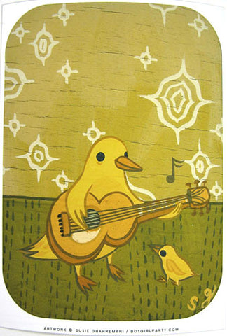 Duckling Art Print (signed) by Susie Ghahremani / boygirlparty.com