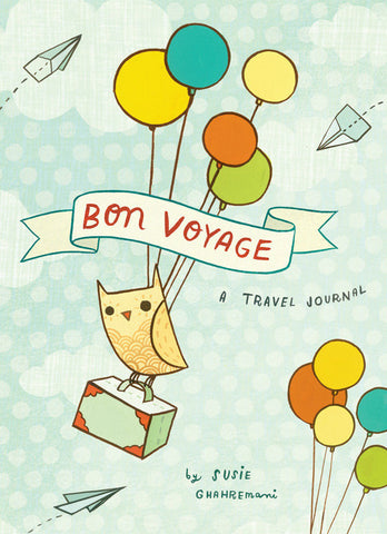 Bon Voyage Travel Journal by Susie Ghahremani / boygirlparty.com