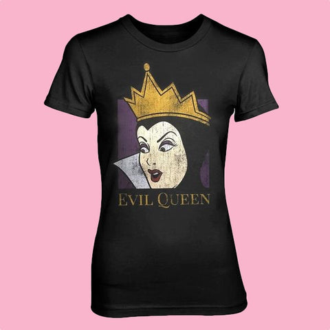 [W] Disney - Snow White Evil Queen - Ladies Fitted T-Shirt