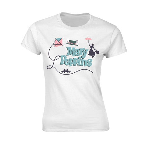 [W] Disney - Mary Poppins Logo - Ladies Fitted T-Shirt