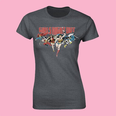 [W] DC Comics - Girls Night Out - Ladies Fitted T-Shirt