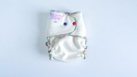 Organic Bamboo Heavy Wetter Fitted-Fruit of the Womb Diapers