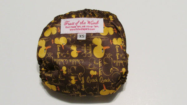 Pocket palz Pocket Diaper in Waddle print-Fruit of the Womb Diapers