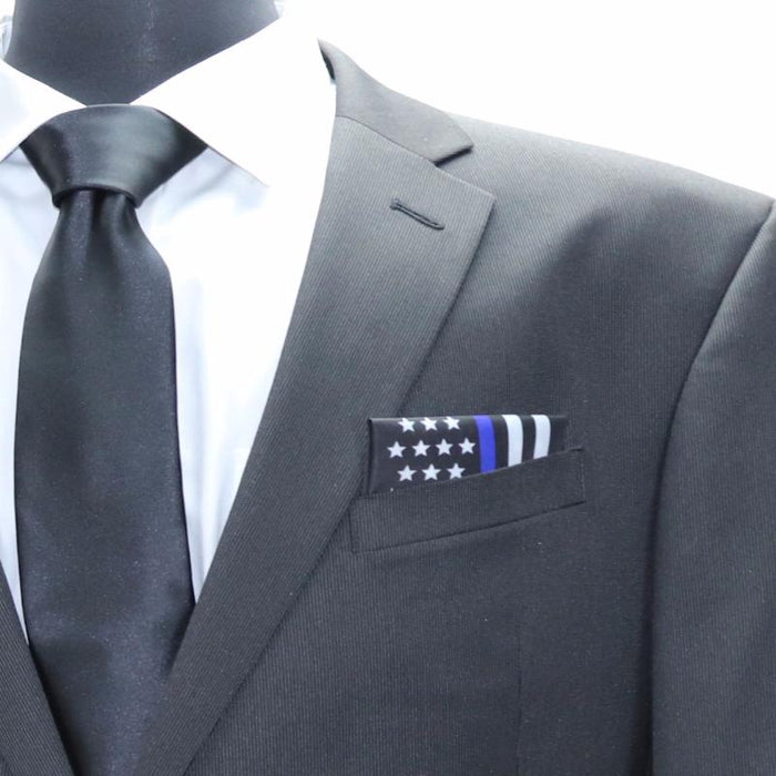Blue Line American Flag Pocket Square