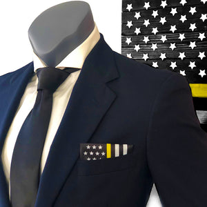 Thin Yellow Line American Flag Pocket Square