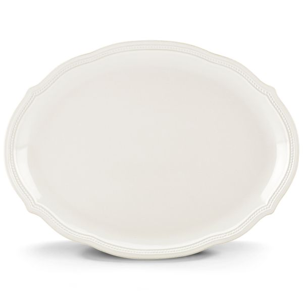 French Perle Bead Oval Platter