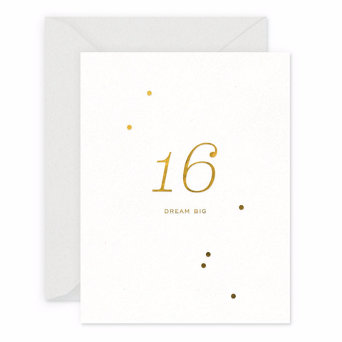 16 Milestone Birthday Card