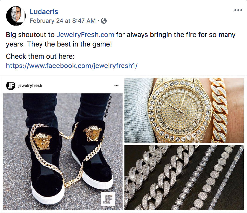 Ludacris Facebook Shoutout