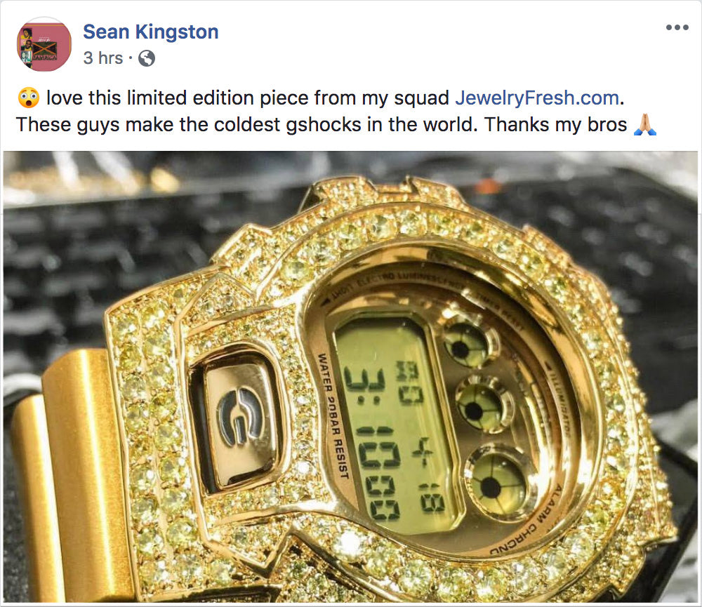 sean kingston G shock watch