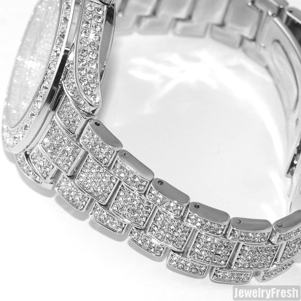 Rhodium 41MM Big Face Iced Out Watch