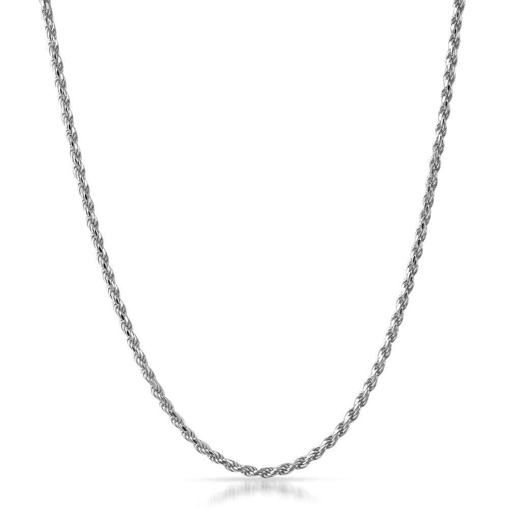 925 Silver 3mm Italian Diamond Cut Rope Chain