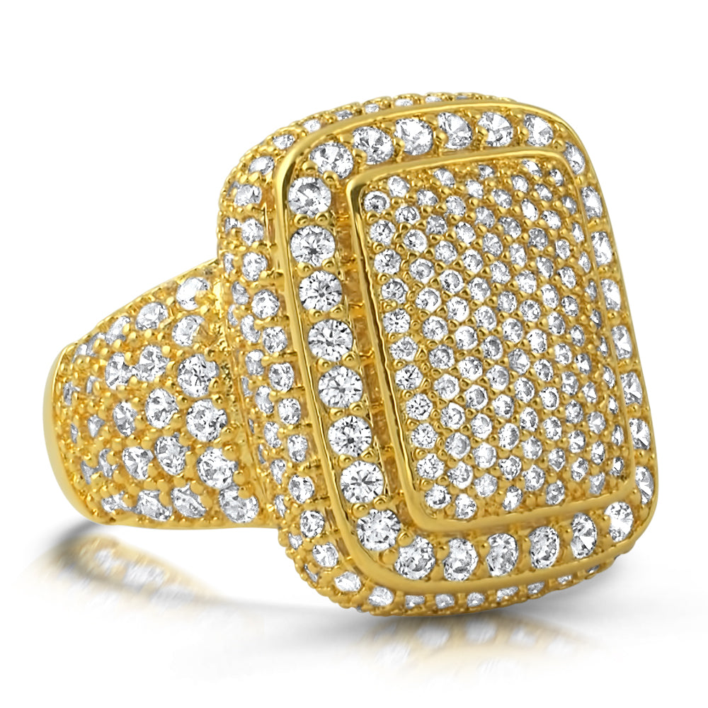 18K Gold Bust Down Diamond Pinky Ring