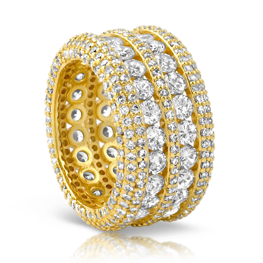 18K Gold Luxury Diamond Eternity Ring