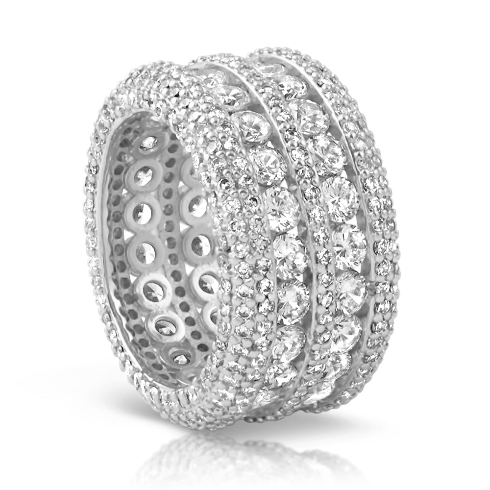 White Gold Luxury Diamond Eternity Ring