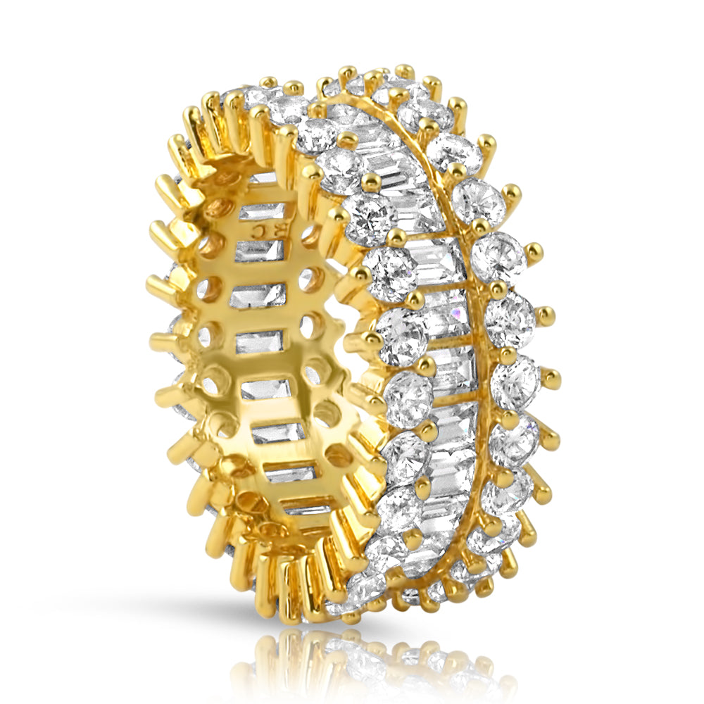 18K Gold Fancy Baguette Diamond Ring