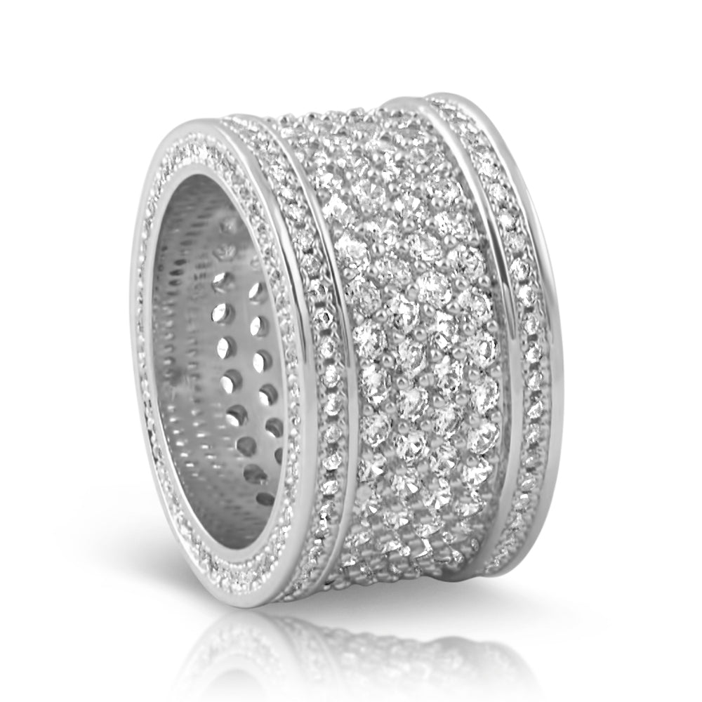 Sterling Silver Big Body Diamond Eternity Ring