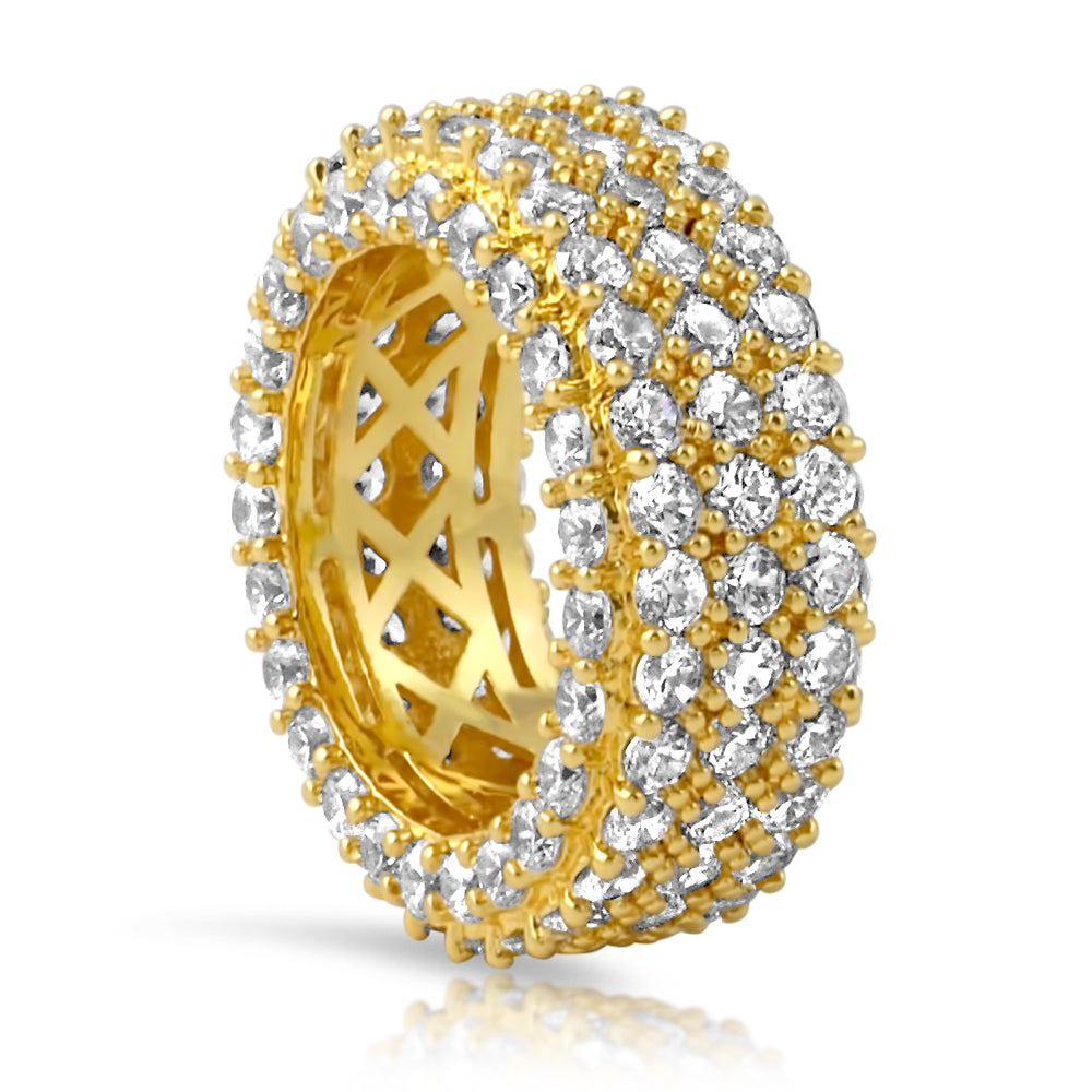 18K Gold Diamond Crushed Eternity Ring