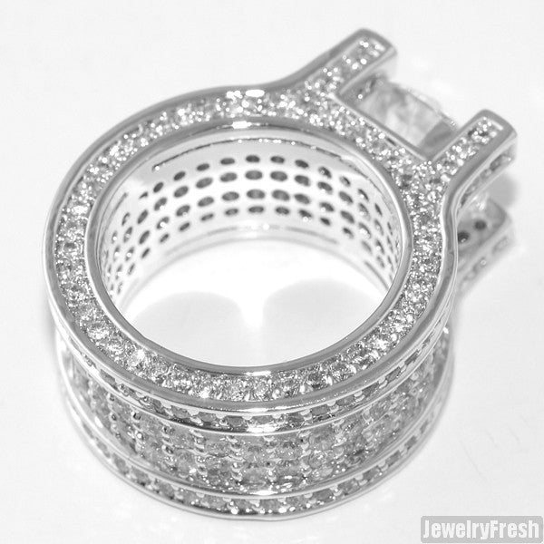 13.4 Carat Platinum Tone Luxury Ring