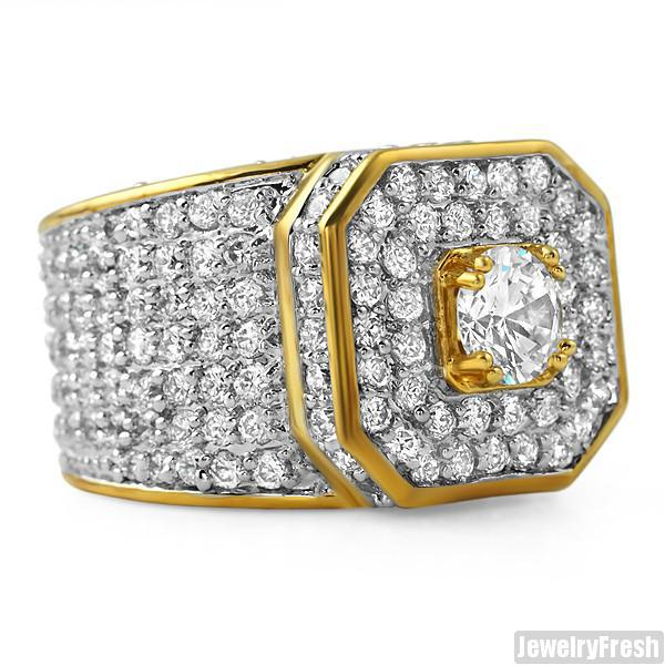 12.5 CTW Lab Simulated Diamond Supreme Ring Gold