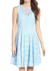 Julian Taylor Women's Sleeveless Lace Fit and Flare Dress