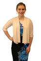 SleekTrends Women Elbow Sleeve Shawl Collar Bolero Jacket