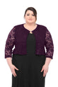 SLEEKTRENDS Womens Plus Size Embellished Sequin Lace  Bolero Jacket